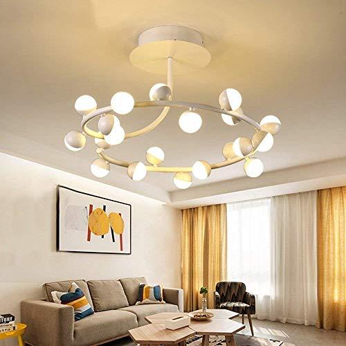 WHKZH Simplificado, Moderno Cuadrado Ligero Extravagante Led Cristal Colgante Lámpara de Techo Dimmer Parches Hierros Faros Alojamiento Salón 49 Cm / 59 Cm / 89 cm Lámparas.
