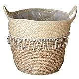 Woven Basket Seagrass impianto camion di mano cesto di fiori tessuto di stoccaggio con maniglia per bagagli Servizio lavanderia Impianto Style1