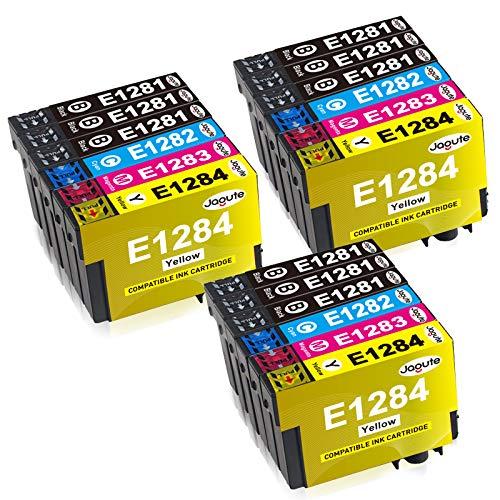 Jagute T1281 Cartucce d'inchiostro sostituzione di Epson T1285 T1282 T1283 T1284 per Epson Stylus SX420W SX425W SX435W S22 SX125 SX130 Office SX440W SX445W BX305F BX305FW SX230 SX235W, 18 Pacco