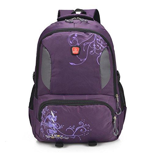 Randonnée sac à dos Outdoor sport occasionnel léger portatif confort sac à dos alpinisme cyclisme voyage Pack d'affaires des étudiants sac d'ordinateur 3 couleurs H49 x W33 x T15 cm , purple