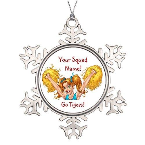 prz0vprz0v Best Friend Snowflake Ornamenti Cheerleader Cheerleader Cheerleader, Ornamento di Natale Personalizzabile, Ornamento del Film al Rio, 7,6 cm