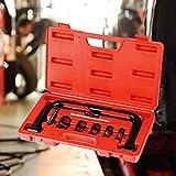 Todeco Compresseur de Ressorts de Soupape, Voiture Jeu d'outils avec Une Mallette Rouge, 11 pièces Coffret Compressor disassemble Outils, 33,5 x 19,5 x 5,5cm