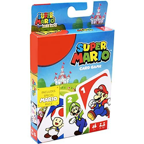 Super Mario UNO Kartenspiel und Gesellschaftspiel, geeignet für 2-10 Spieler, Spieldauer ca. 15 Minuten, ab 7 Jahren