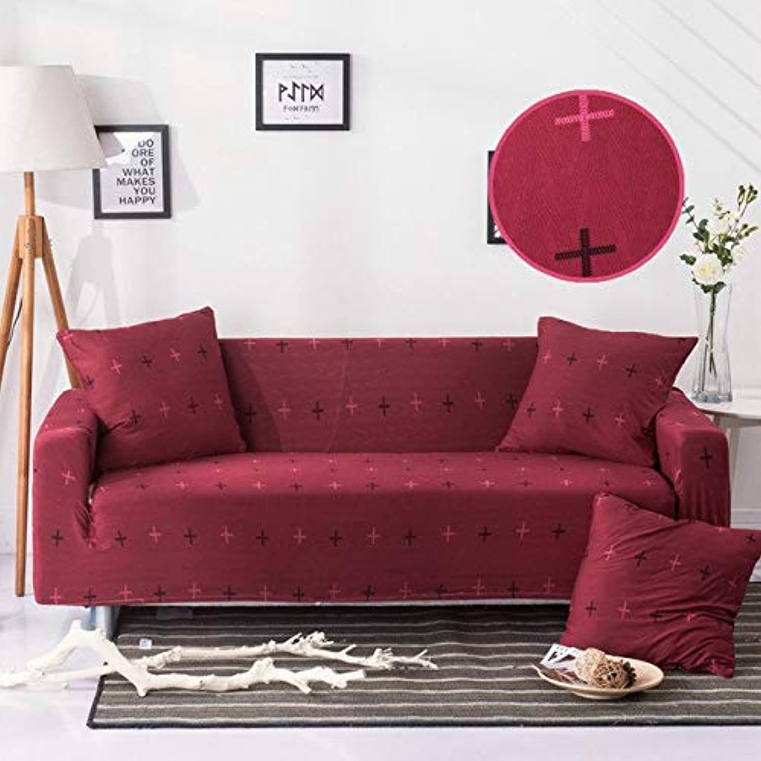 Solid color Stretch Sofa Cover Corner Slip Sectional Elastic niture Couch Predector Seat Case Lig Room Home Decor   2, Four-Seater