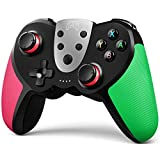 TERIOS Wireless Controller for Nintendo Switch – Premium Joypad for Video Games – Remote Joystick for Gamers – 3 Levels of Turbo Speed – NFC Technology-(Pink - Green)