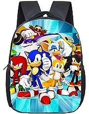 Sonik skolväska singel Soniska figurer ryggsäck Sonic the Hedgehog studenter skolväskor tecknad bok pennväska anime leksaker för barn gåvor