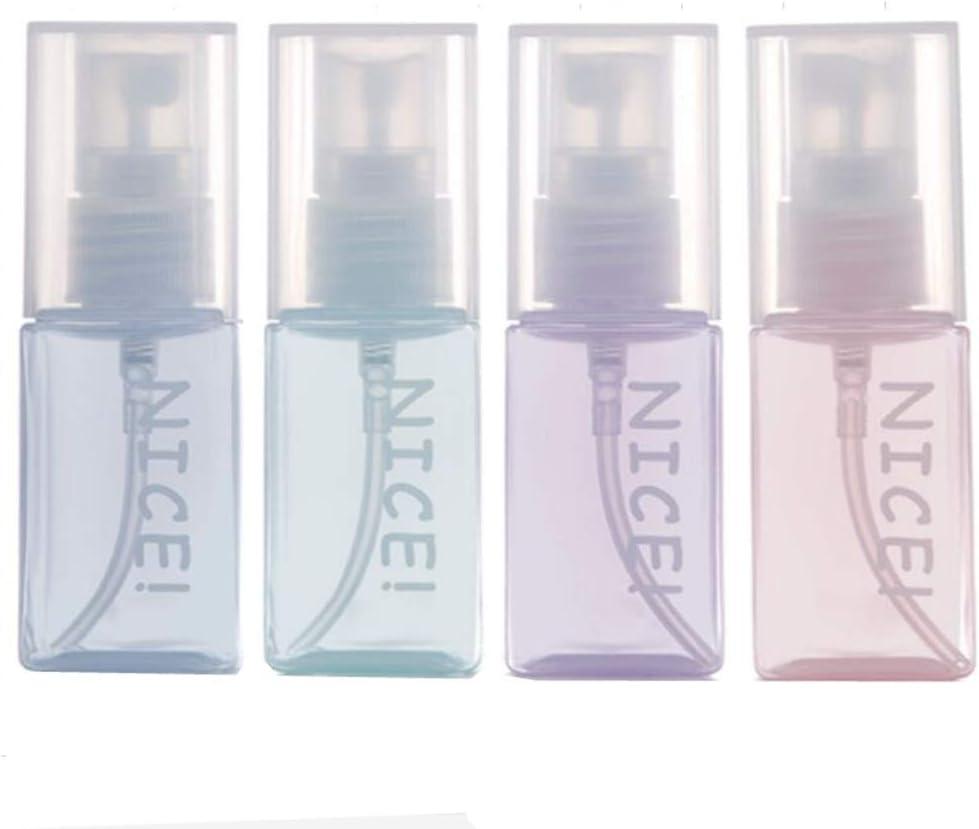 Sinide Plastic Spray Bottles 35ML - 1.2 OZ Empty Mini Travel Bottle TSA Approved With Fine Mist Sprayer, Refillable Perfume Atomizer Leak Proof, Use for Liquid, Perfume, Aromatherapy (35ML-4Pcs)