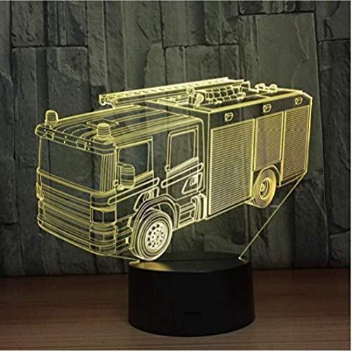 Led Brandweerwagen Auto 3D Nachtlampje 16 Kleuren Bureau Tafellamp Led Lichtkrant Letterlicht Home Decor Gifts