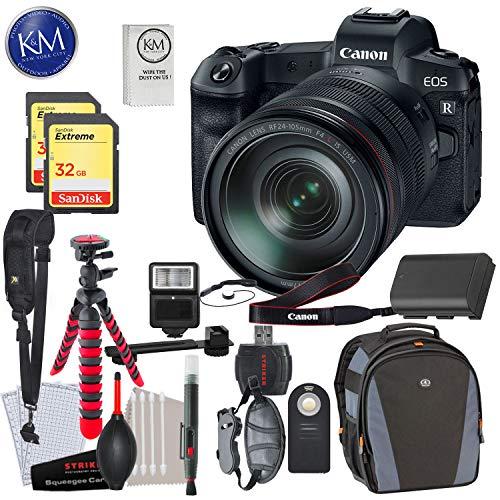 Find Bargain Canon EOS R Mirrorless Digital Camera w/ 24-105mm Lens & 2 x 32GB Premium Striker Bundl...