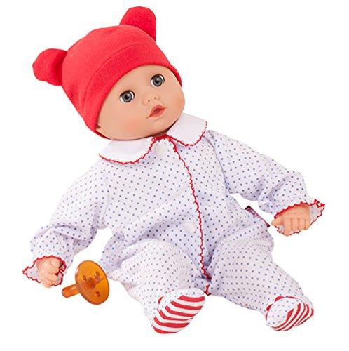 Götz 1820529 Muffin Boy - Junge Puppe - 33 cm große Babypuppe mit blauen Schlafaugen und ohne Haare - 4-teiliges Set - Weichkörperpuppe ab 18 Monaten