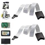 dancepandas SD Card Extension 2PCS 48CM Micro SD a TF Tarjetas Cable Alargador Adaptador Flexible Micro SD a SD Adaptador Cable de Extensión para Mini Impresora 3D/GPS de Coche/Pantalla LCD
