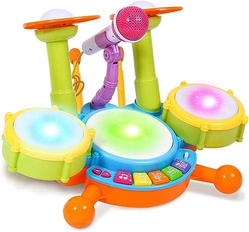 HXGL-Tambor Batería Infantil Música Juguetes educativos Percusión Versión de Carga (Tamaño   Metro)
