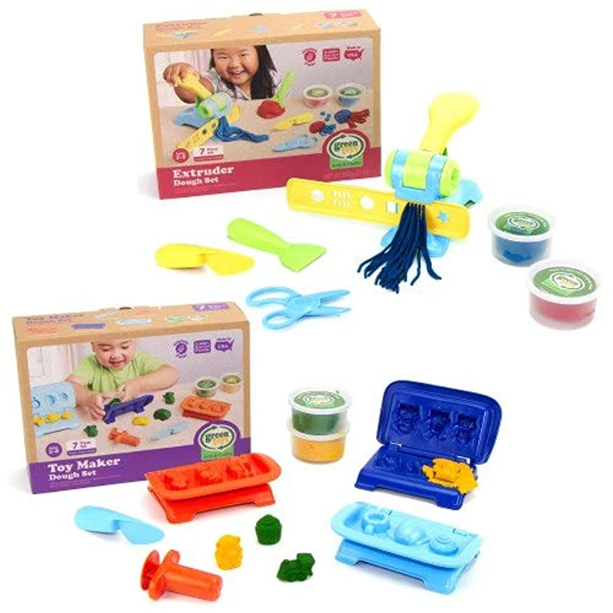 Green Toys Dough Toy Maker and Extruder Set