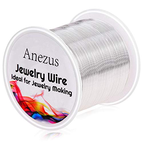 22 Gauge Jewelry Wire, Anezus Craft Wire Tarnish Resistant Copper Beading Wire...