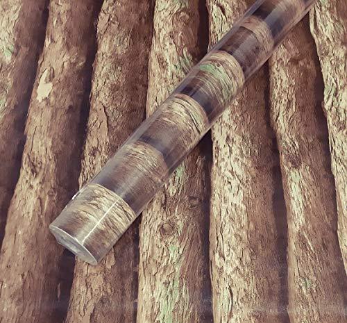 Visario Tapeten Folie 3000-S selbstklebend Baumstamm Dekor 10 m x 45 cm Dekorfolie Möbelfolie Tapete 3053