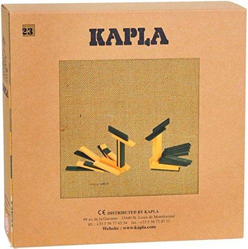 KAPLA JL+JP Holzplättchen, 40er Box, 20 gelb und 20 grün + Buch - 3