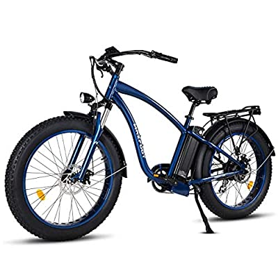 MaxFoot 26inch Fat Tire Electric Bike 750W MF-18P Mountain Ebikes 48v Electric Beach Cruiser for Adults