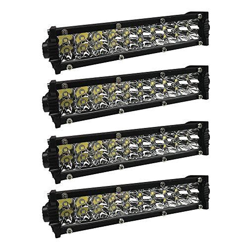 UISEBRT 4x60W LED Arbeitsscheinwerfer Offroad Flutlicht Light bar Scheinwerfer Zusatzscheinwerfer IP67 für ATV SUV LKW UTV