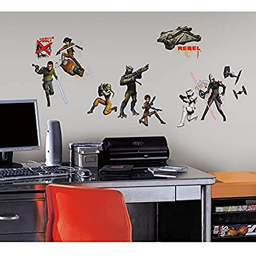 Thedecofactory RMK2622SCS Star Wars Rebels Peel and Stick Wall Decals REPOSITIONNABLES, Vinyle, Multicolore, 104 x 26 x 2,5 cm