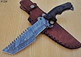 Poshland TR-P-334 Custom Handmade Damascus Steel Tracker Knife- Unique Design