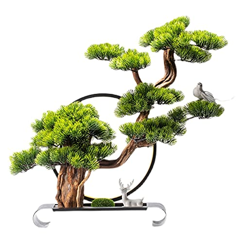 xinxinchaoshi Artificial Plants Artificial Bonsai Tree, Fake Plant Decoration, 22 Inches Potted Artificial House Plants, Beautiful Pine Bonsai Plant, for Decoration Desktop Display Indoor House Plant