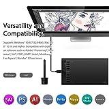 """XP-PEN Star03 V2 12"""" Tableta Gráfica Dibujo con 8192 Niveles de Presión Lápiz Pasivo Tableta Digital con 8 Teclas de Atajo Personalizable y Aplicable para Diestro o Zurdo (Negro)"""