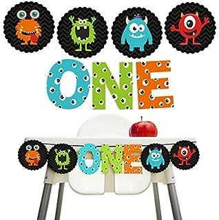 Monster Bash Decorations 1st Birthday Monster One Banner Little Monster High Chair Banner Decorations