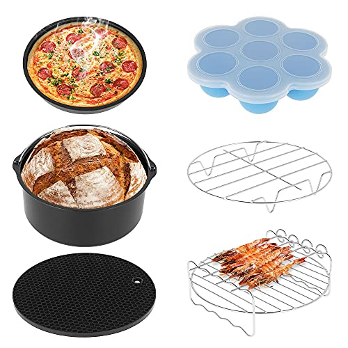 Accesorios de freidora de aire caliente, estante de soporte multiusos, herramientas de parrilla de cocina, parrilla de pizza, parrilla de silicona para camping barbacoa