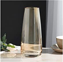 Flower Bottle Cylindrical Dried Flower Decoration Thick Glass Crafts Home Gifts (22 * 6.5cm)
