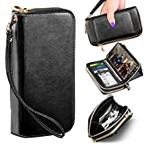 ELV Wallet Purse Case Designed for Samsung Galaxy Note 10 Plus/Galaxy Note 10 Plus Pro 5G Case PU Leather Folio Flip Case with Credit Card Slots, Detachable Case and Back Stand