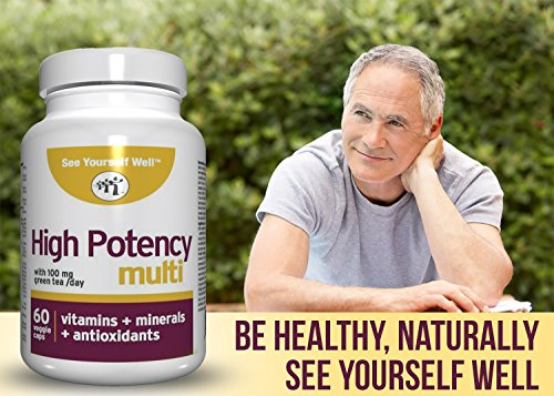 High Potency: All Natural Brain Function Booster & Anti Aging Essentials. Memory, Mental Clarity & Cognitive Function. Antioxidant Nutrients, Vitamins, and Minerals, Plus Green Tea.