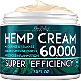 Hemp Pain Relief Cream 60,000 Mg - Natural Hemp Extract Cream for Arthritis, Back Pain & Muscle Pain Relief - Efficient Inflammation Cream & Carpal Tunnel Relief - Made in USA - Good for Skin Health