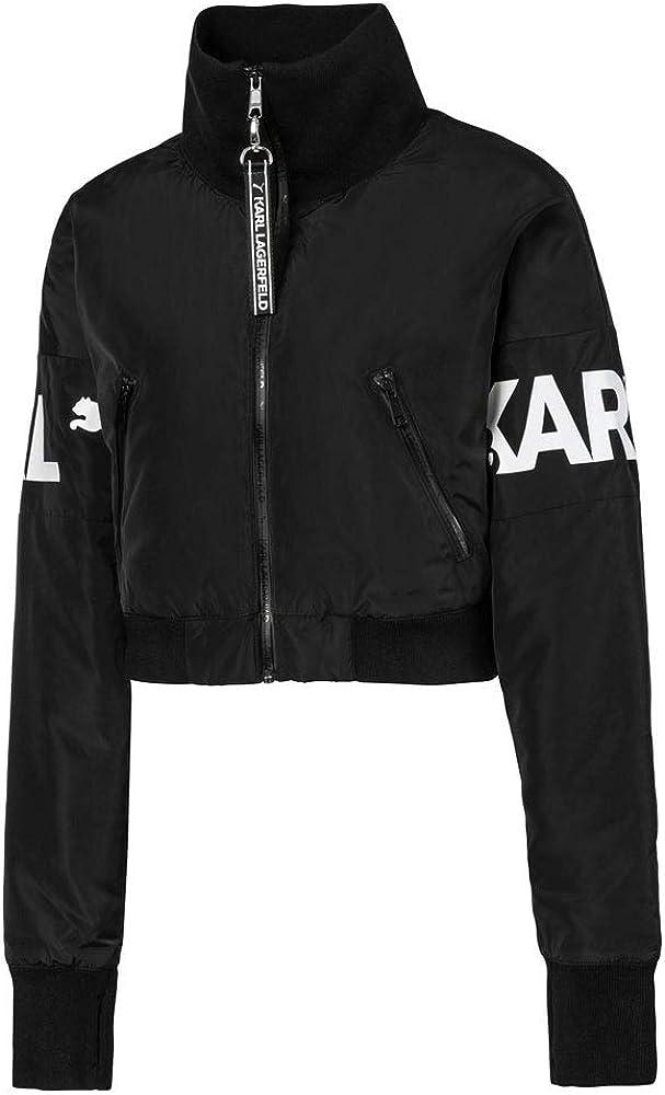 Puma Womens Puma X Karl Bomber Coats Jackets Outerwear Casual - Black