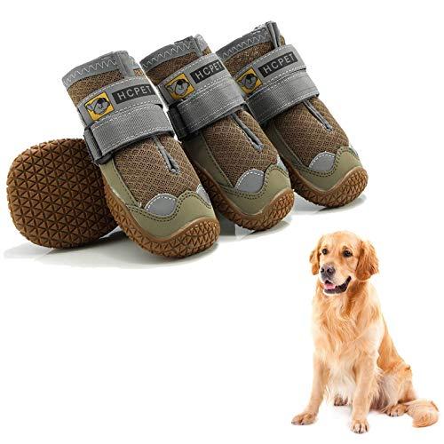 Havenfly Hundestiefel Wasserdichtes 4er-Set,atmungsaktive Hundeschuhe mit verschleißfester,Hundeschuhe mit besten reflektierenden Trägern für kleine mittelgroße große Hunde im Freien (7:Wide7.0cm)