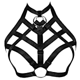 JELINDA Women Harness Bra Elastic Band Lingerie Cupless Cage Bra See Through Hollow Out Harness (Y061-K-2)