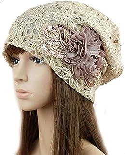 Pretty women's beautiful hat lace flowers adorn cap LX1-1