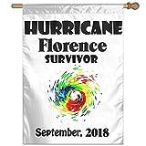 Eriesy Flagge Fahnen Hurricane Florence Survivor September 2018 Flag Garden Flag Family Flag Party Flag 100% Polyester Fiber Vertical Garden Flag