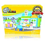 Ele Toys Educational STEM Large Children's Building Blocks for Preschool and Toddlers - Compatible Building Bricks Construction Set - Includes Stickers and Story on Feelings