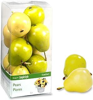 FloraCraft 9 Piece Decorative Mini Fruit Yellow/Green Pear