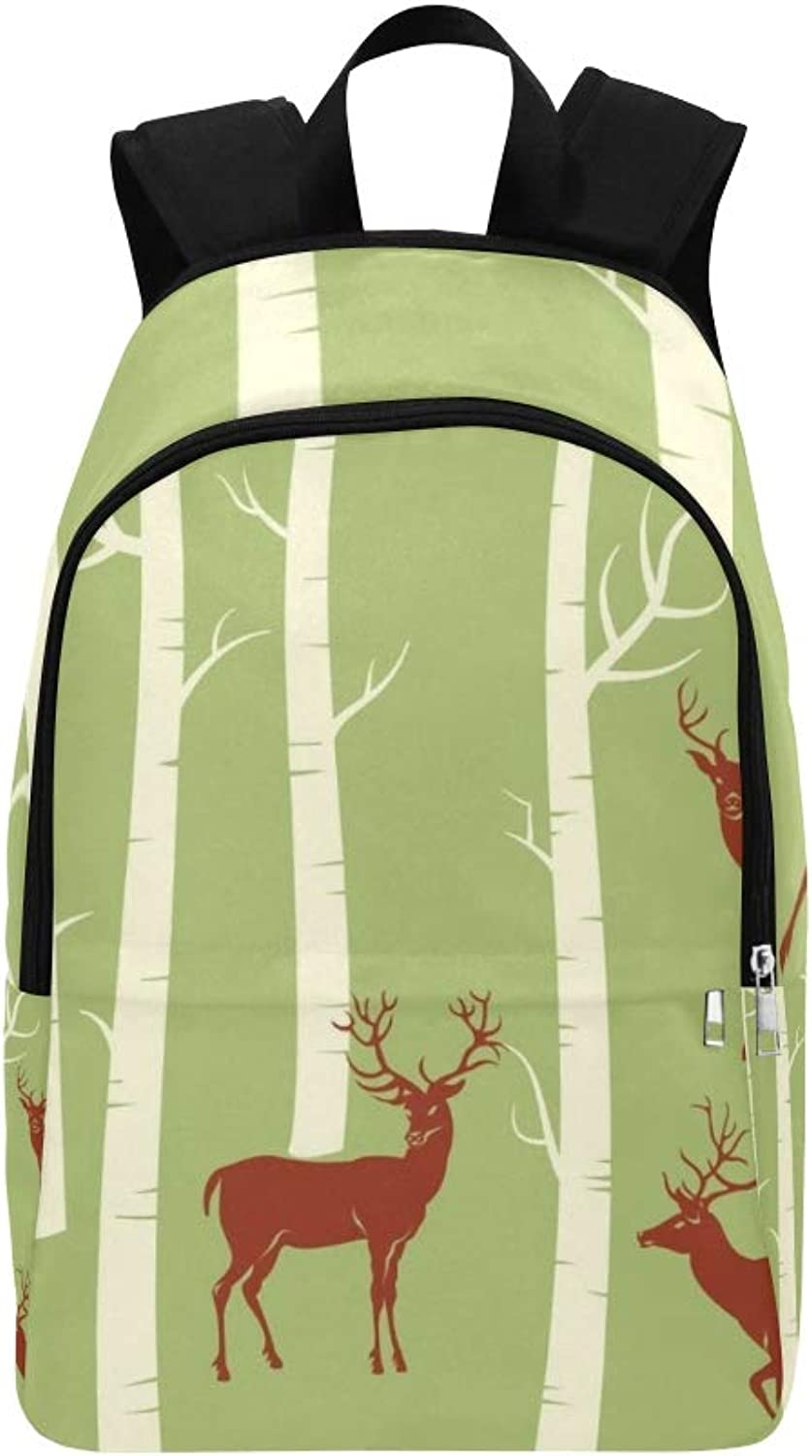 Deers Change color One Click Mouse Casual Daypack Travel Bag College School Backpack for Mens and Women