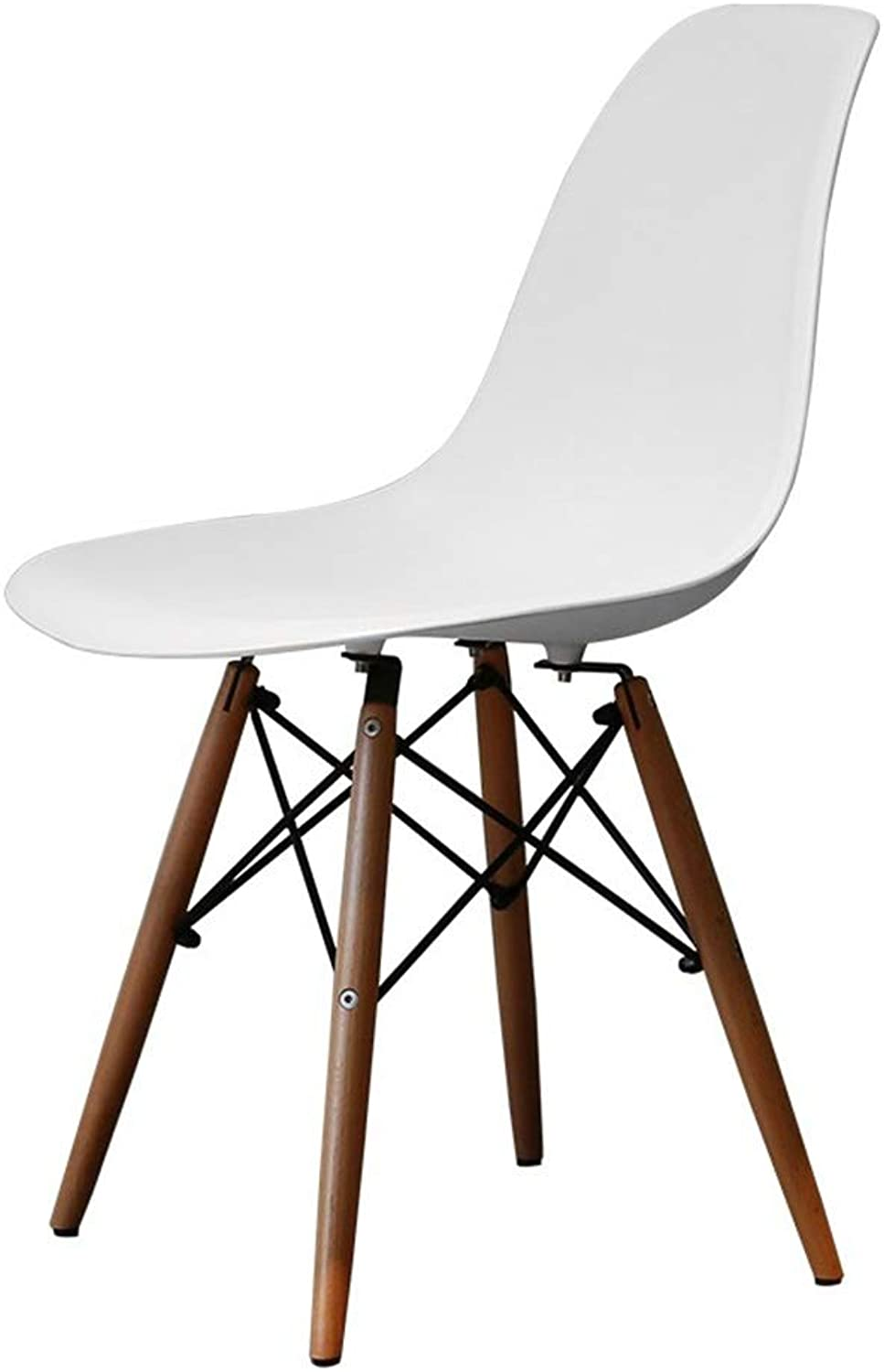 Dining Chairs Dining Chair Back Chair Stool Office Chair Leisure Chair Desk Wooden Chair Cafe Romantic Chair Can Bear 150kg (color   White, Size   46.5  58  83cm)
