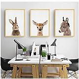 zhaoyangeng Esel Print Tier Kinderzimmer Wandkunst Kinder