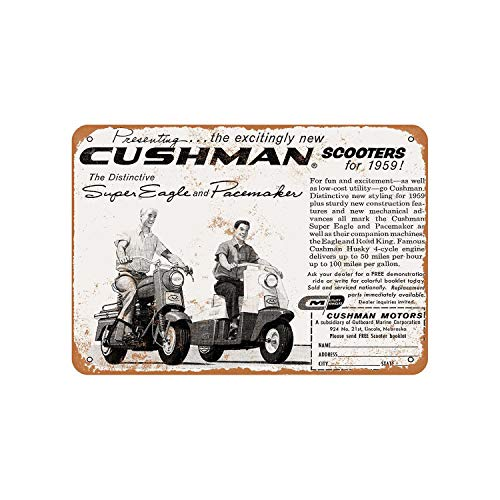 Cushman Scooters Vintage Aluminum Metal Signs Tin Plaques Wall Poster for Garage Man Cave Cafee Bar Pub Club Shop Outdoor Home Decoration 12
