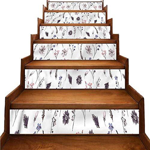 JiuYIBB - Adhesivo extraíble para decoración del hogar, diseño de flores y orquídeas naturales