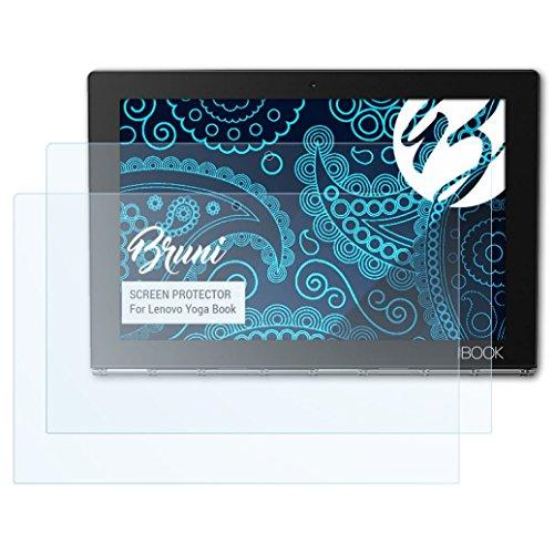 Bruni Schutzfolie kompatibel mit Lenovo Yoga Book Folie glasklare Displayschutzfolie 2X