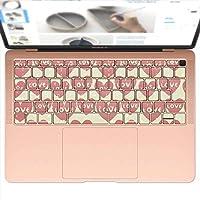 igsticker MacBook Air 13inch 2018 専用 キーボード用スキンシール キートップ ステッカー A1932 Apple マックブック エア ノートパソコン アクセサリー 保護 006268 ラブリー ハート 模様