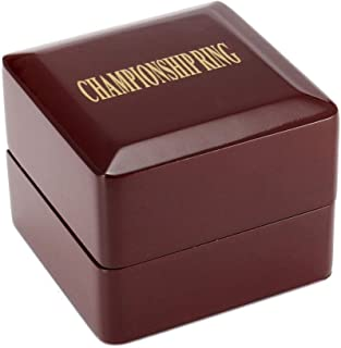 TIKIYOGI Display Wooden Ring Box for One Piece Championship Sports Big Heavy Ring