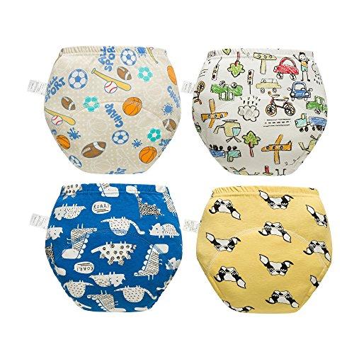 Skhls Skhls 4er Pack Baby Wasserdicht Trainerhosen Unterwäsche Windeln Toilettentraining Töpfchentraining, 2 Jahre