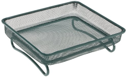 RSPB Mesh Wild Bird Ground Feeder, for many types of bird seed, peanuts, mealworms, sunflower and more, Reduces Mess, Helps to Keep the Food Dry, Coated steel for the Garden & Outdoors