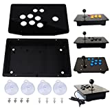Walfront Black Acrylic Panel and Case DIY Set Kits Replacement for Arcade Game (Standard)